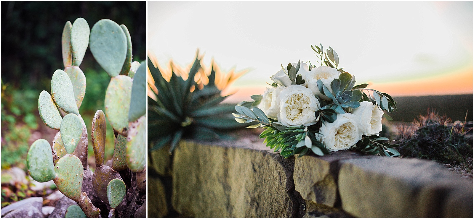 Cactus and Southwest Bouquet Blush Pink Bridal Details at Lady Bird Johnson Wildflower Center Austin Texas Wedding