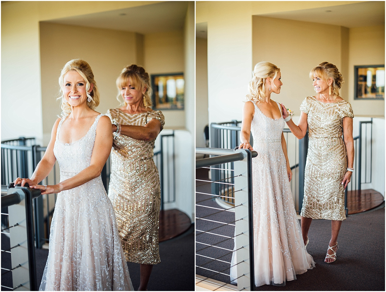 Bride and Mom Getting Ready Blush Pink Bridal Details at Lady Bird Johnson Wildflower Center Austin Texas Wedding