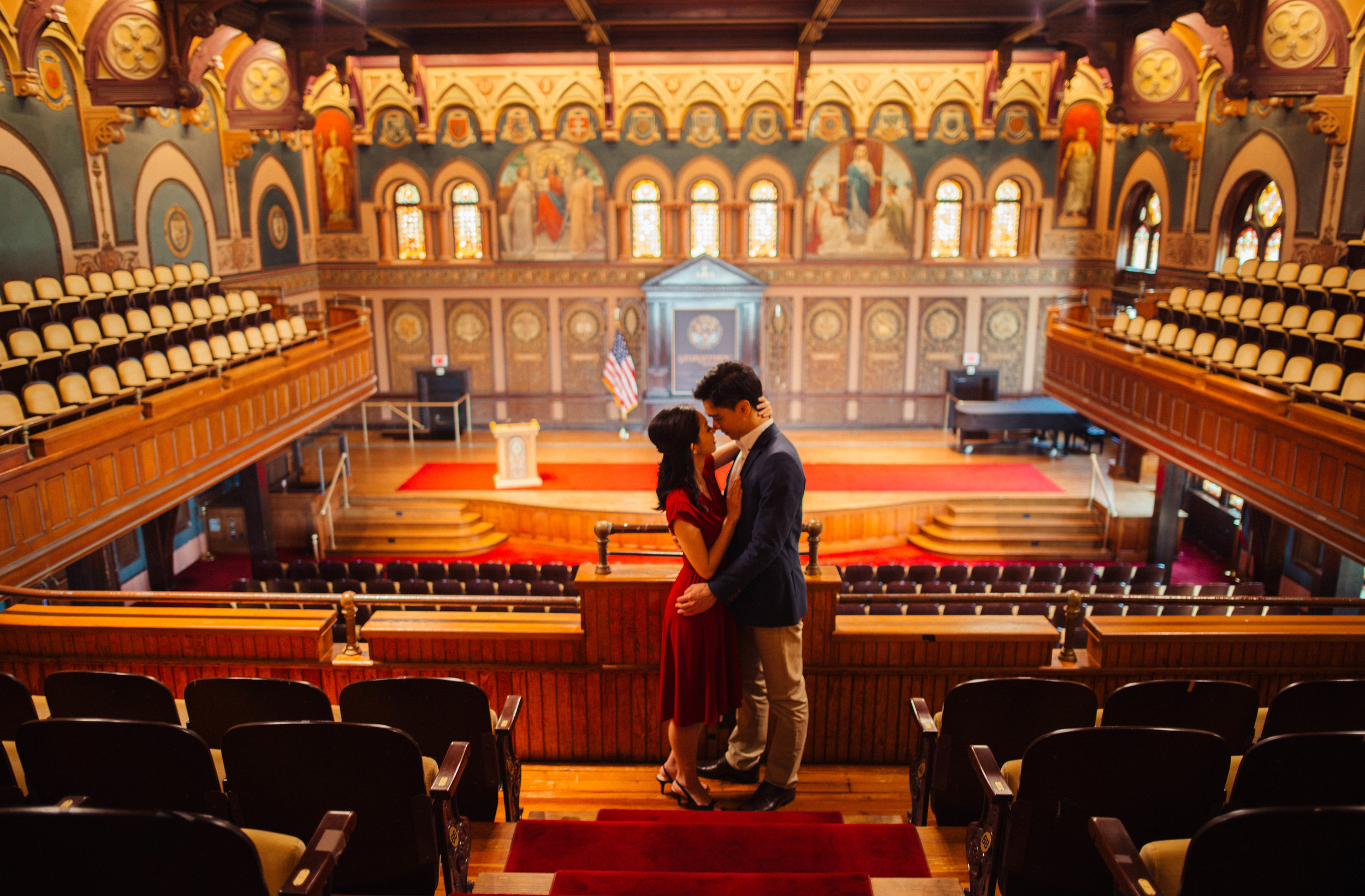 Georgetown University Gaston Hall Engagement Session