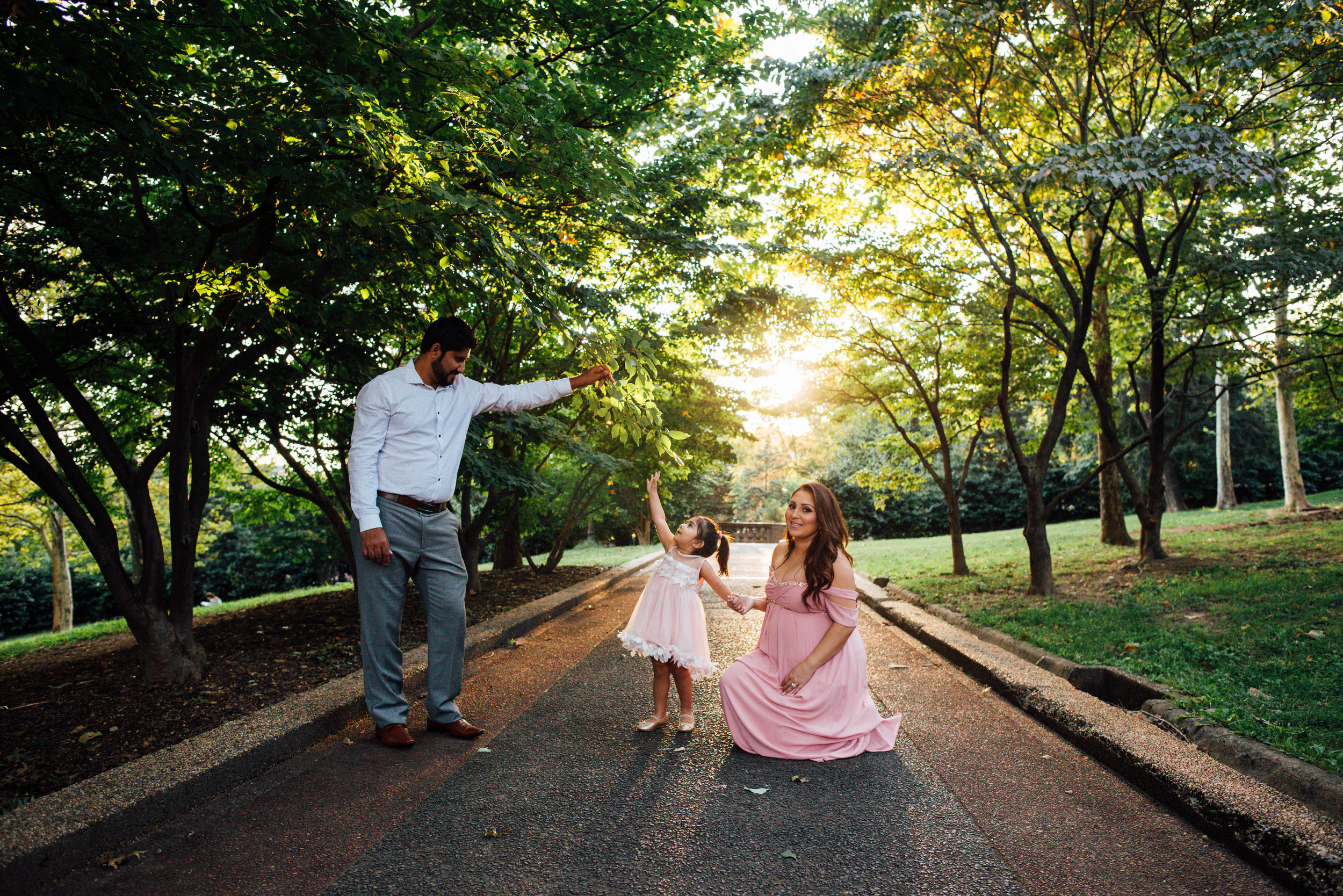 maternity family portrait of four in dc
