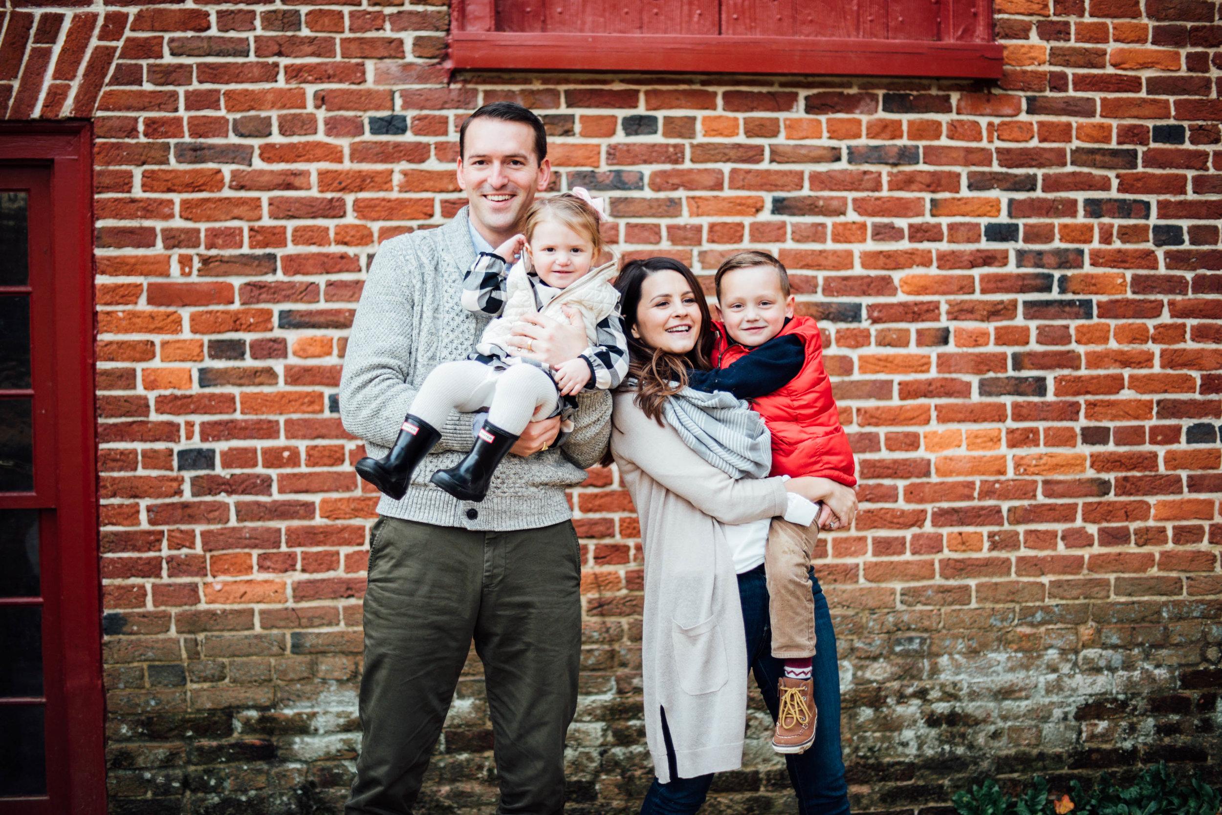 family portrait at colvin mill run park