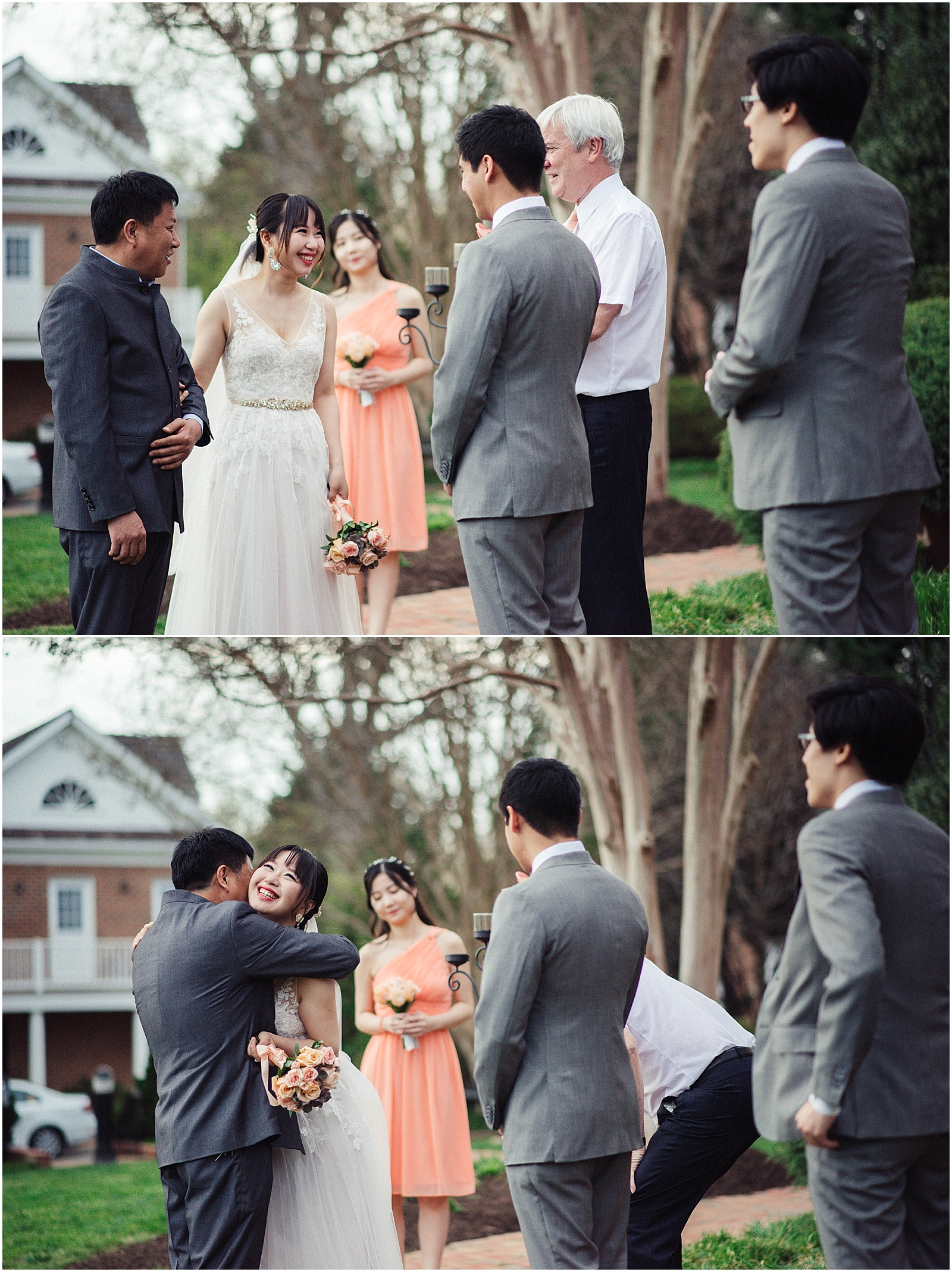 dad walks chinese girl down the aisle