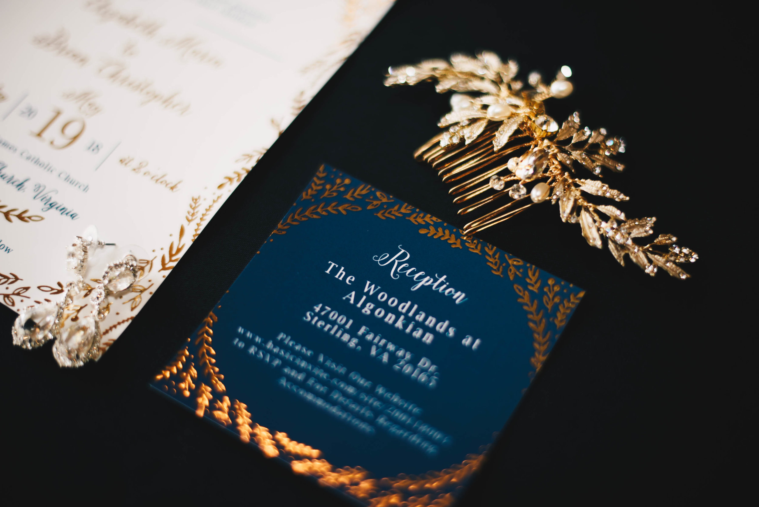 Basic Invite Save the Dates + Wedding Invites from a 2018 #LaurentinaPhotoBride for their Woodlands at Algonkian Wedding in Sterling, VA.