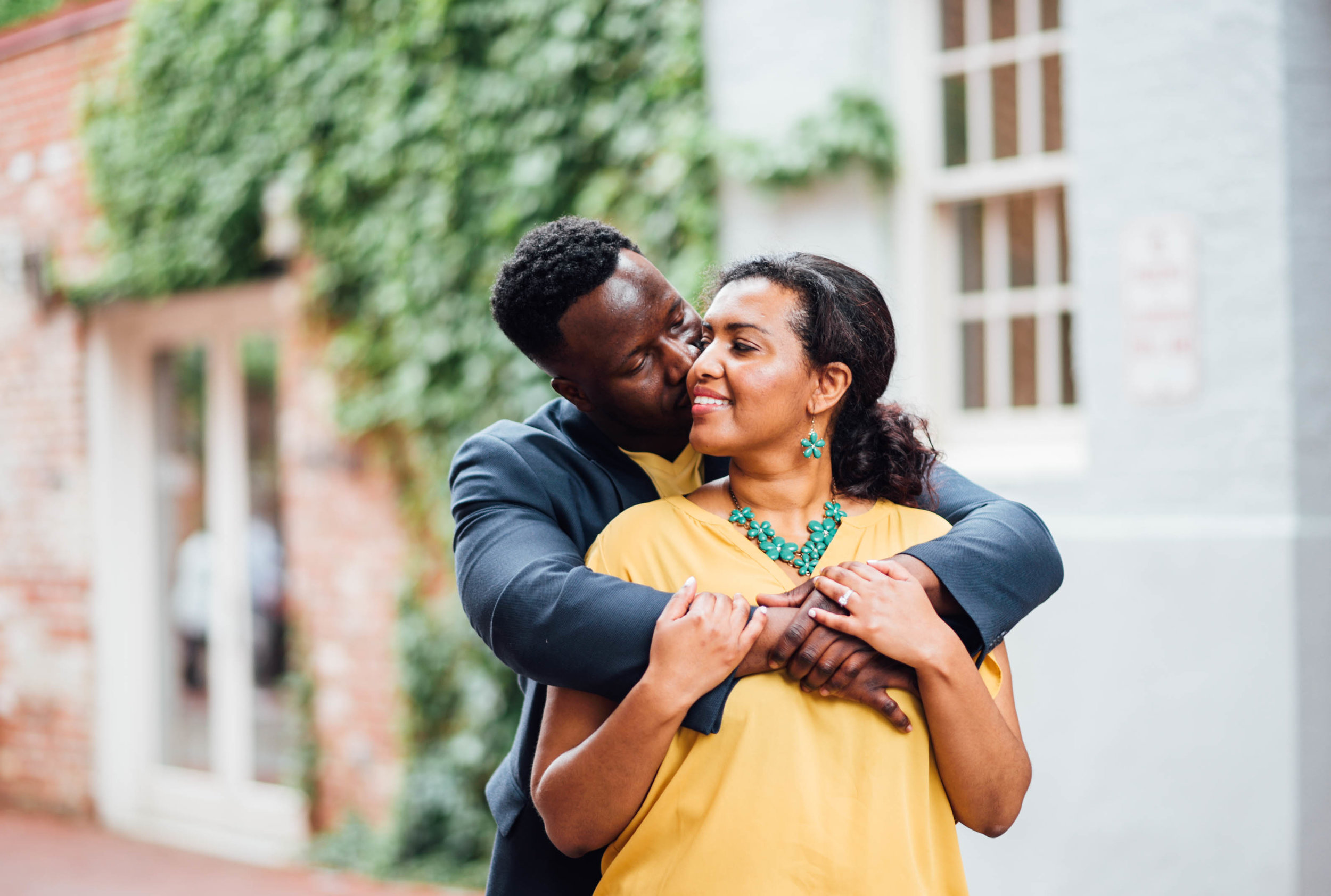 Engagement photos in Georgetown Cady's Alley DC
