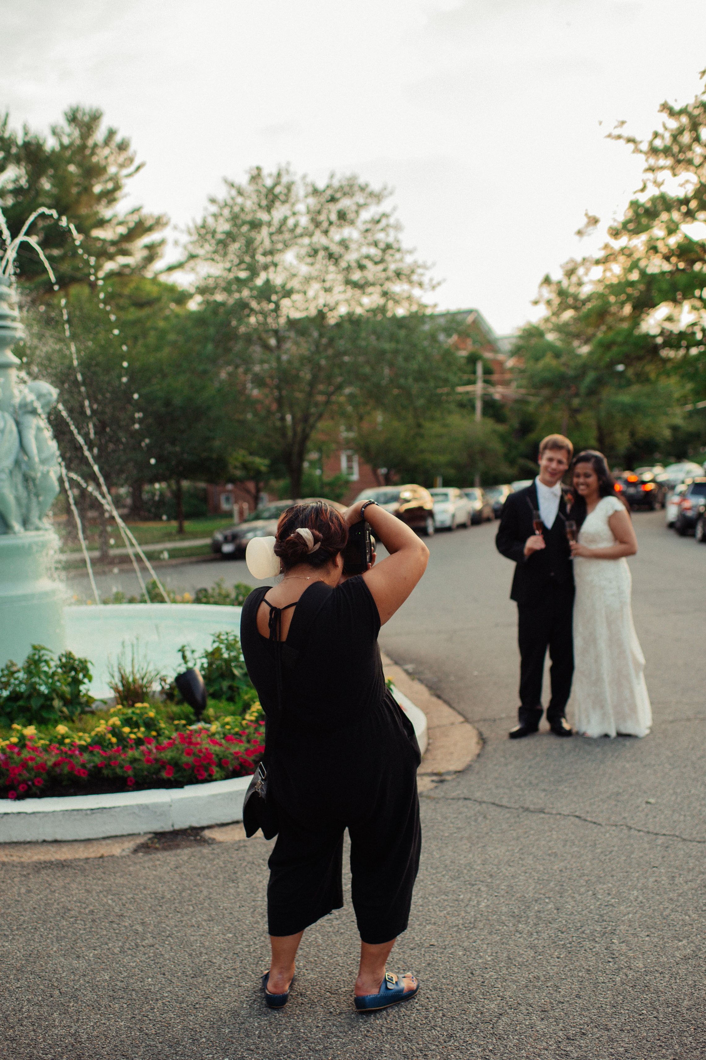Behind the scenes on a hot and humid wedding day in Washington, DC!  Photo Credit: Sara Robertson // McLean Gardens Wedding