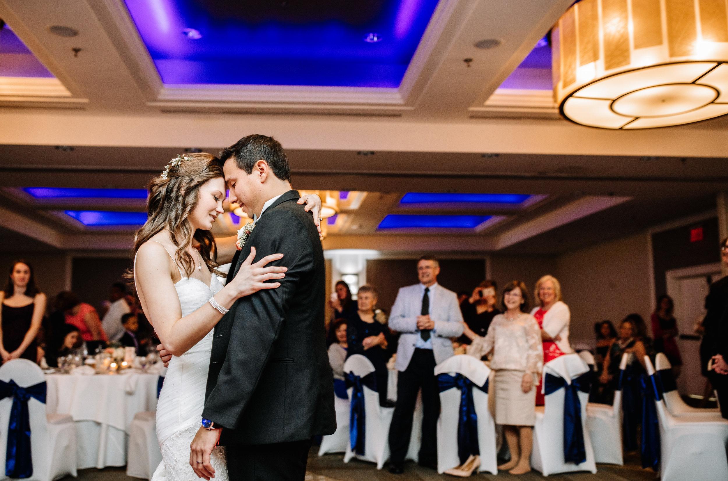 Colombian American Wedding First Dance Reception Westfields Marriott