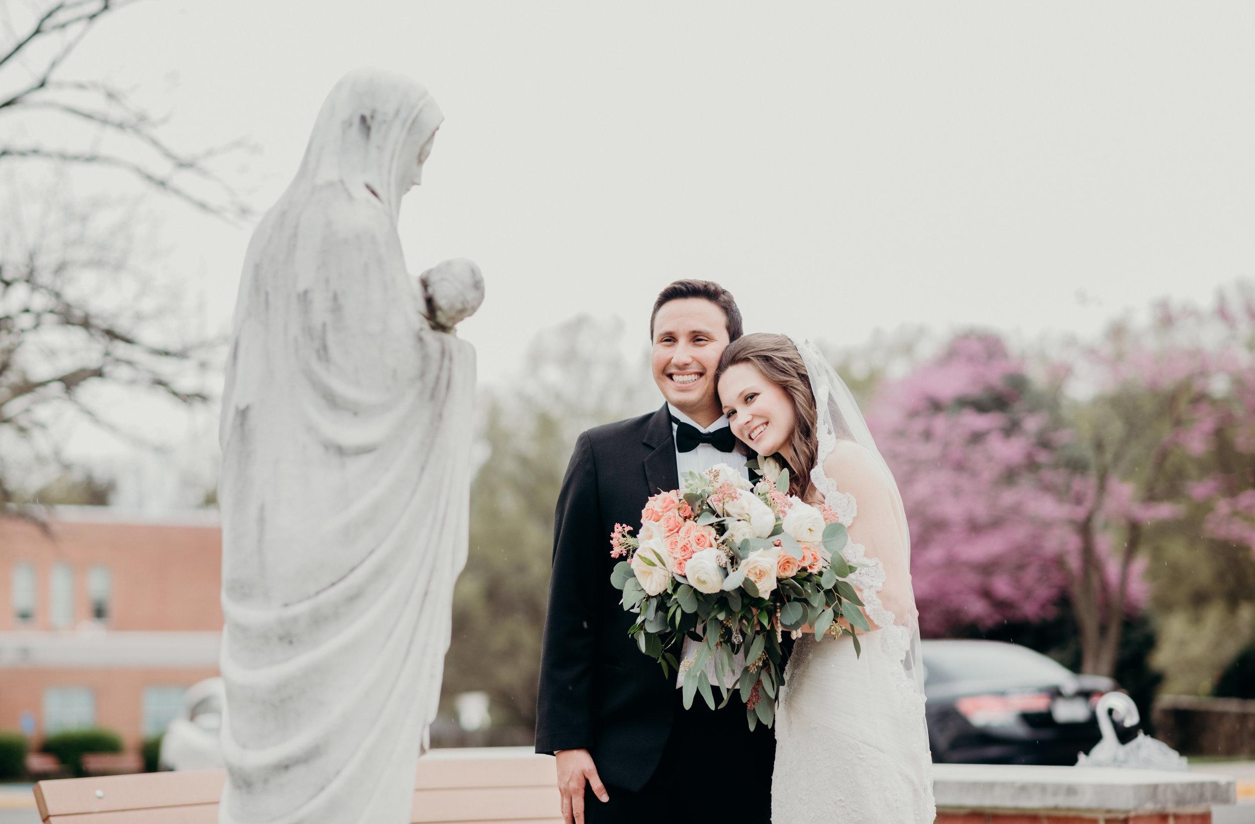 Spoken Bride Vendor Couple Wedding Portraits Virgin Mary