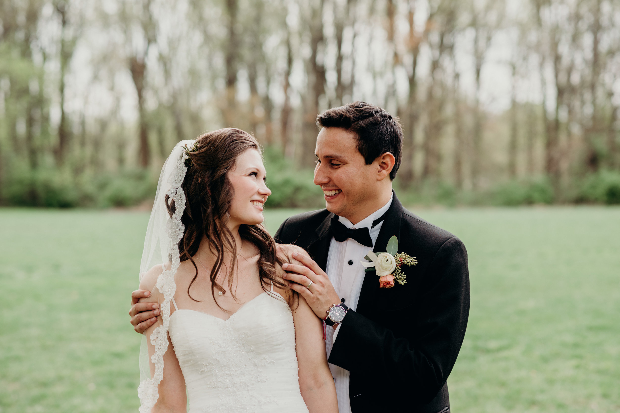 First Look Spoken Bride Catholic Wedding Romantic