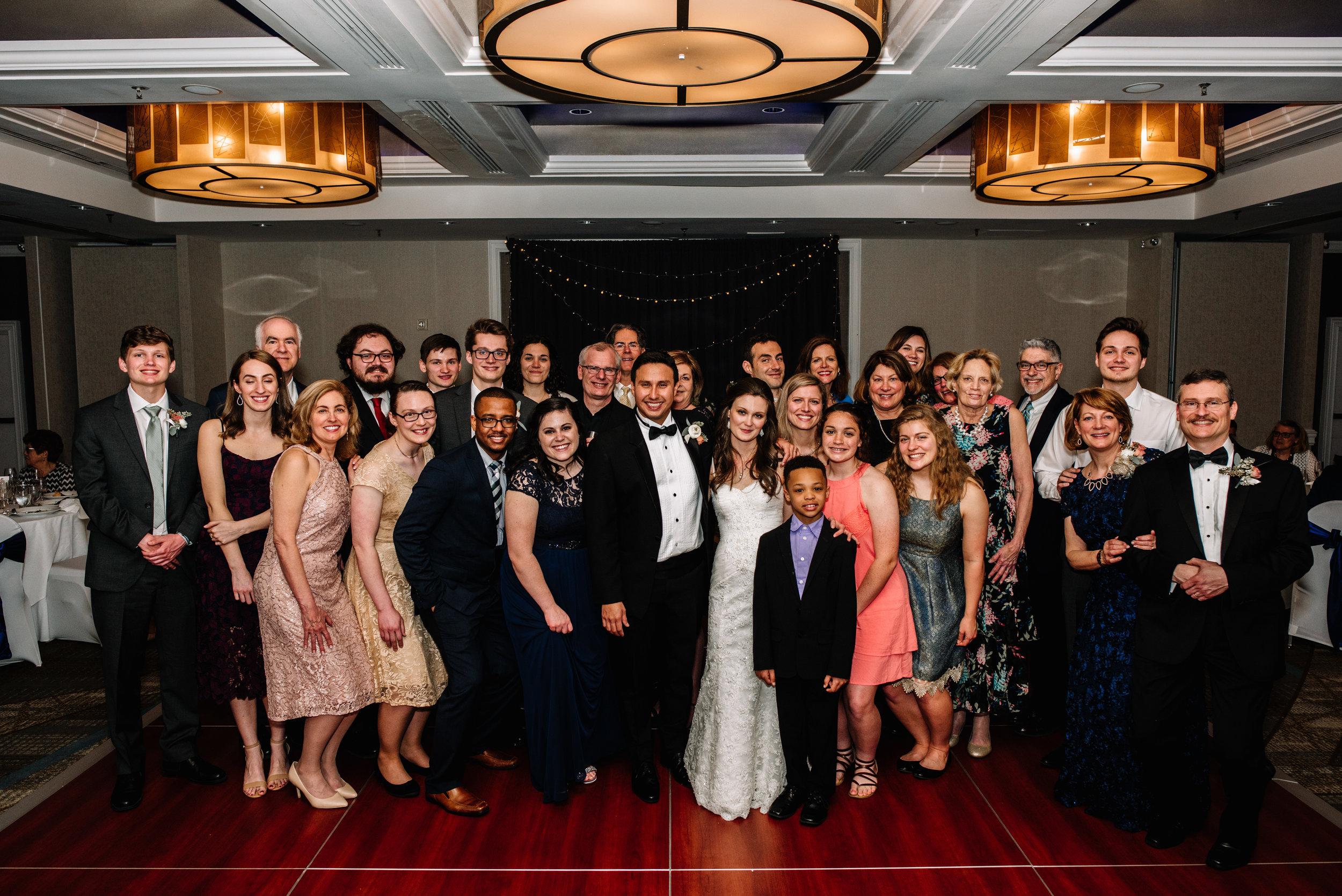 Large Family Wedding Group Photo Hotel Fairfax