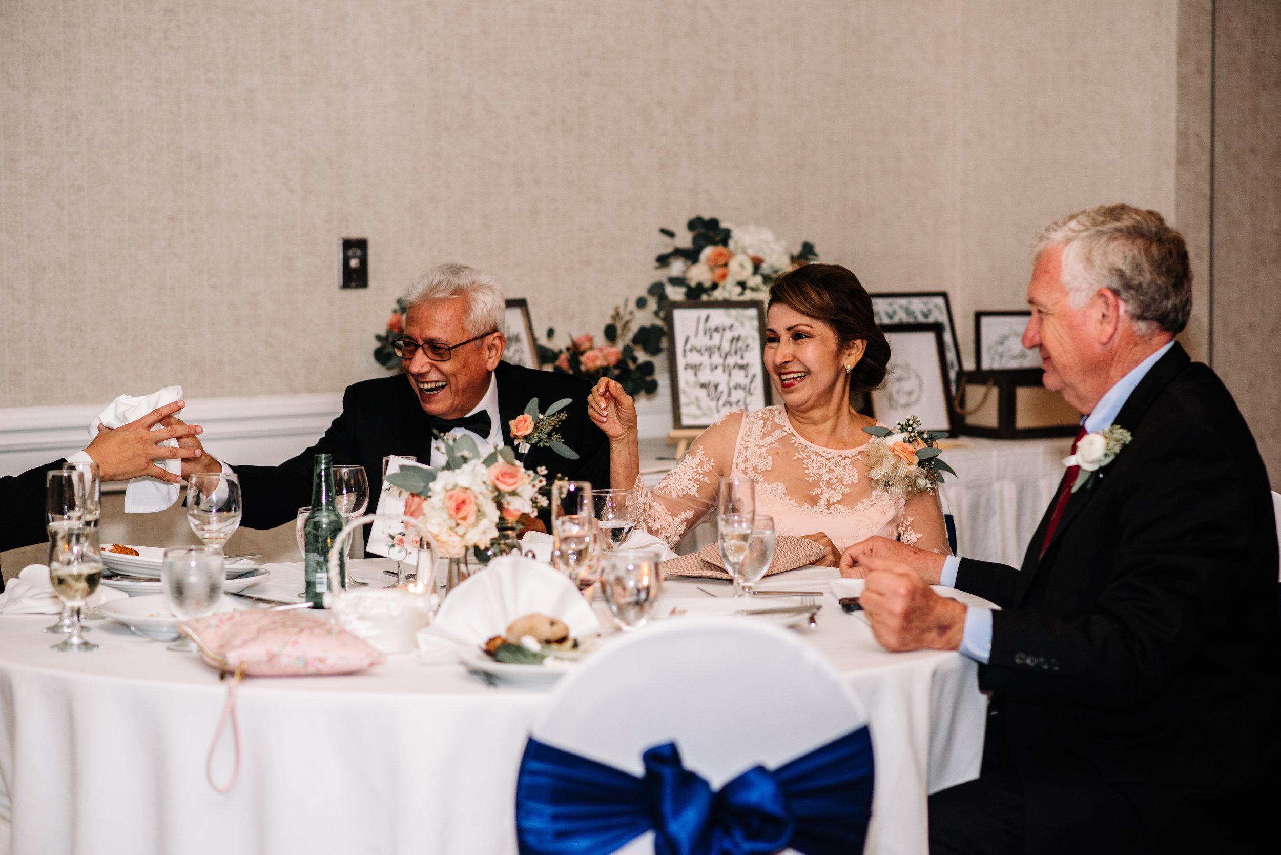 Guests Reaction Wedding Speeches Westfields Marriott