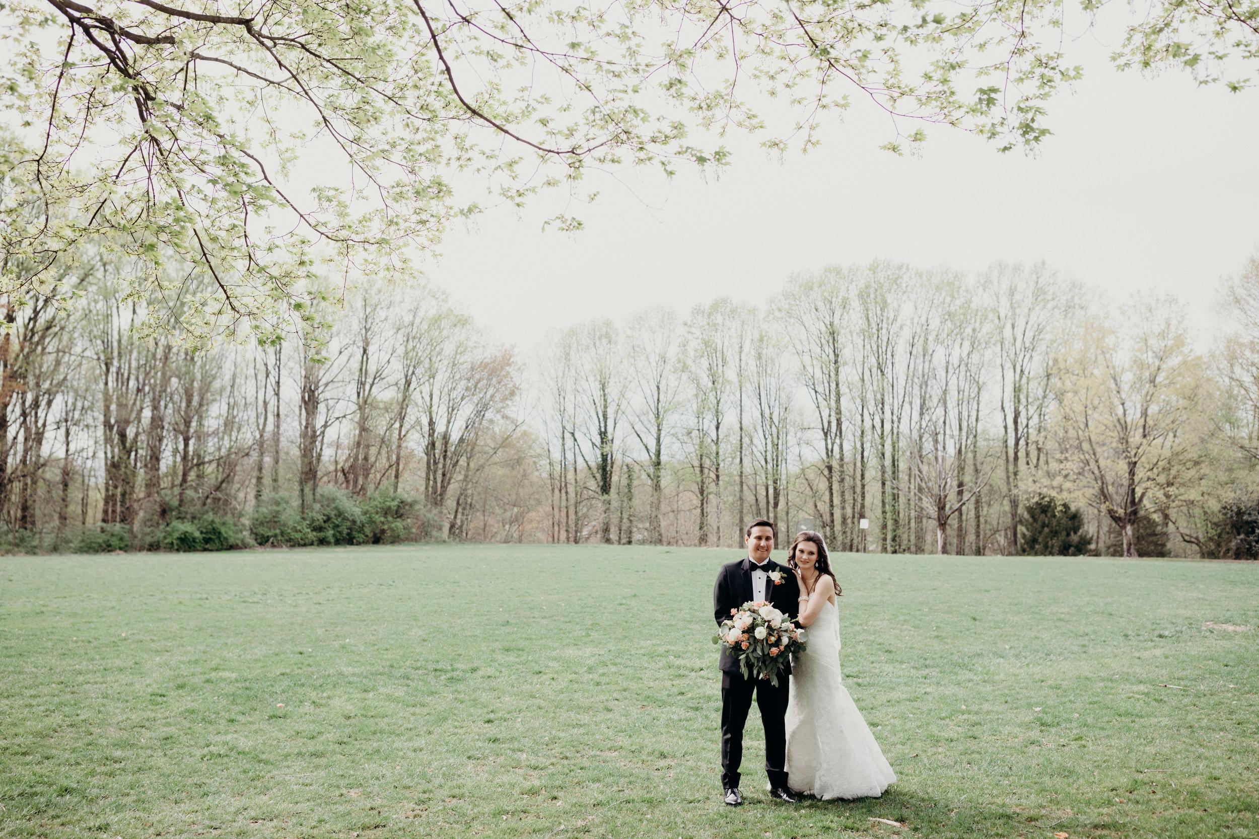 Wide Film Couple Wedding Portrait Fairfax Virginia