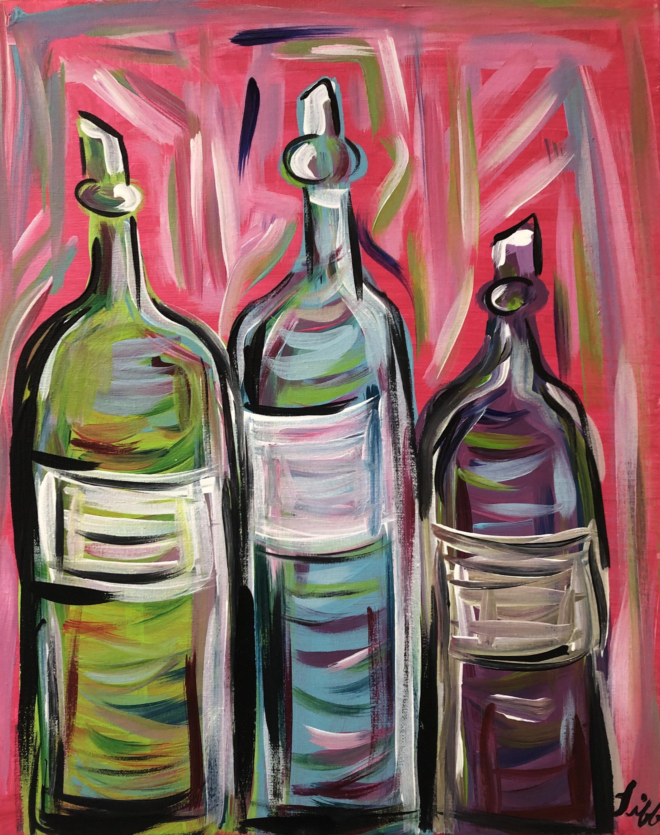 Pink Wine Bottles