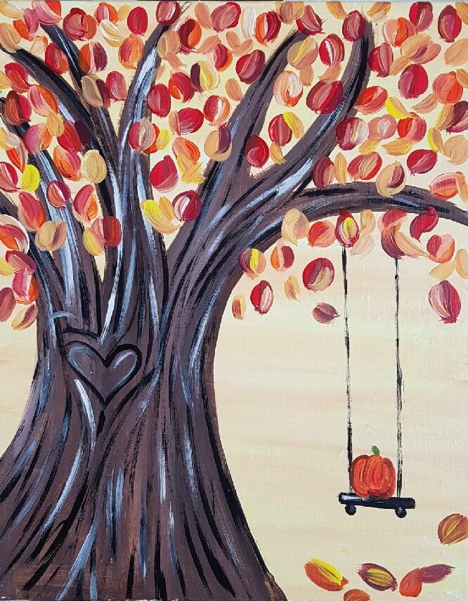 Fall Tree with Swing