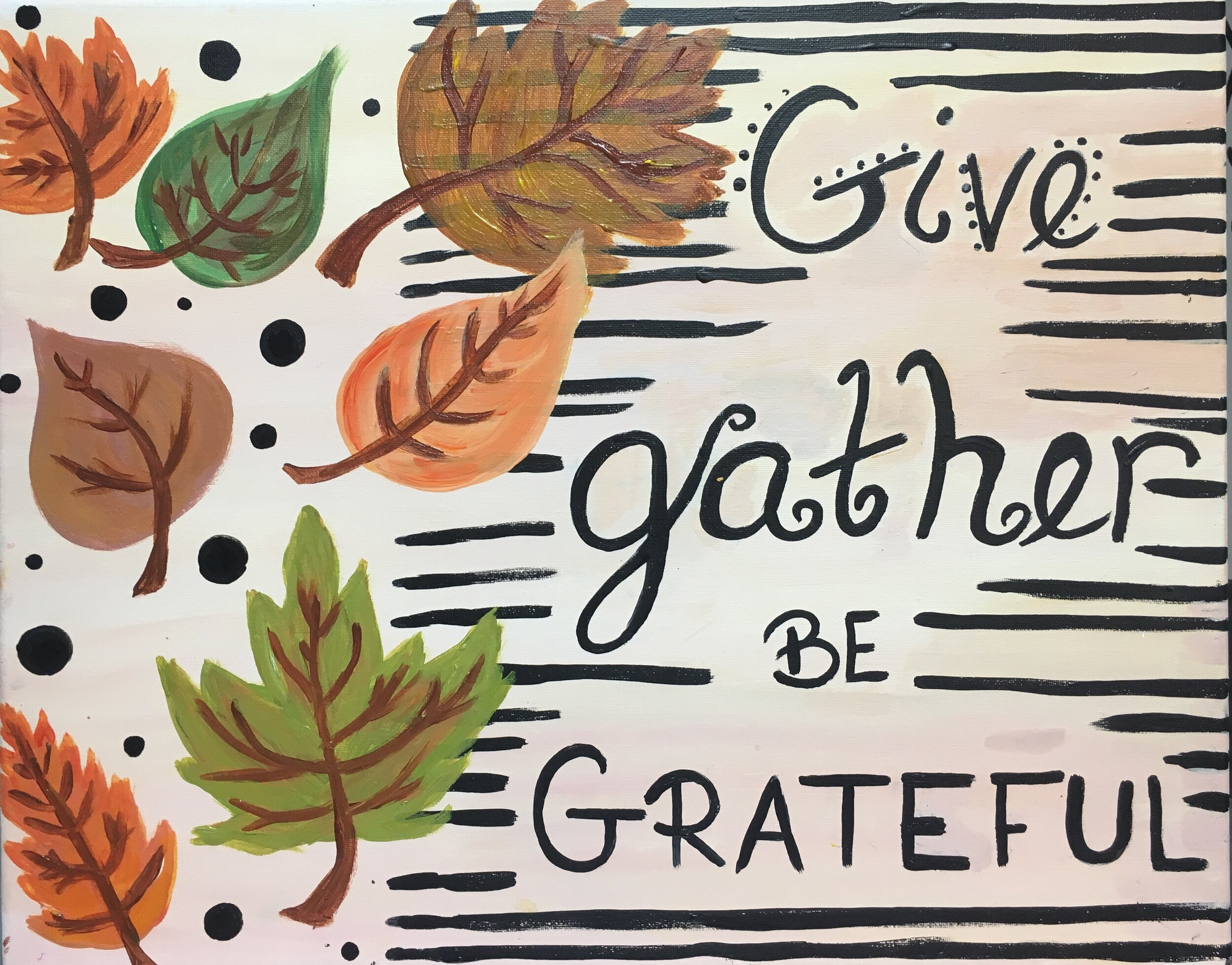 Give, Gather, Be Grateful