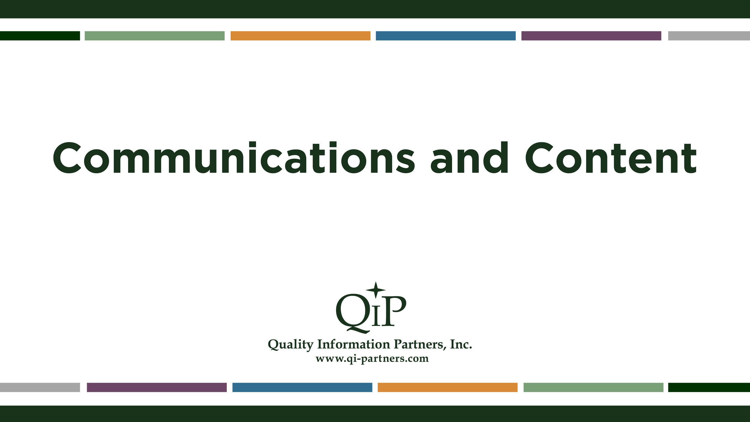 Quality Information Partners Video Reel