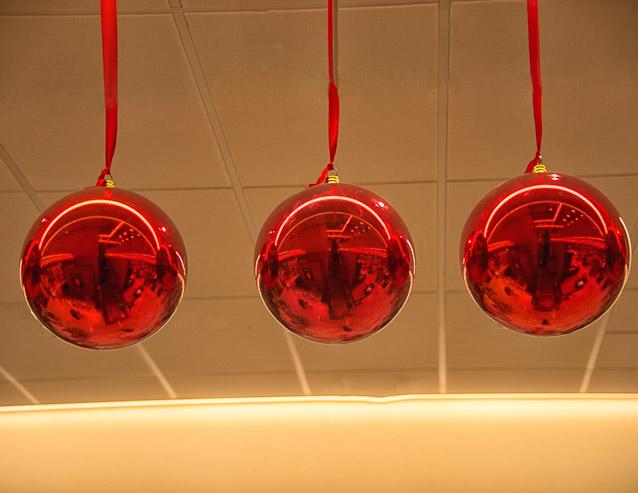 Red Holiday Balls - Phyllis Bankier