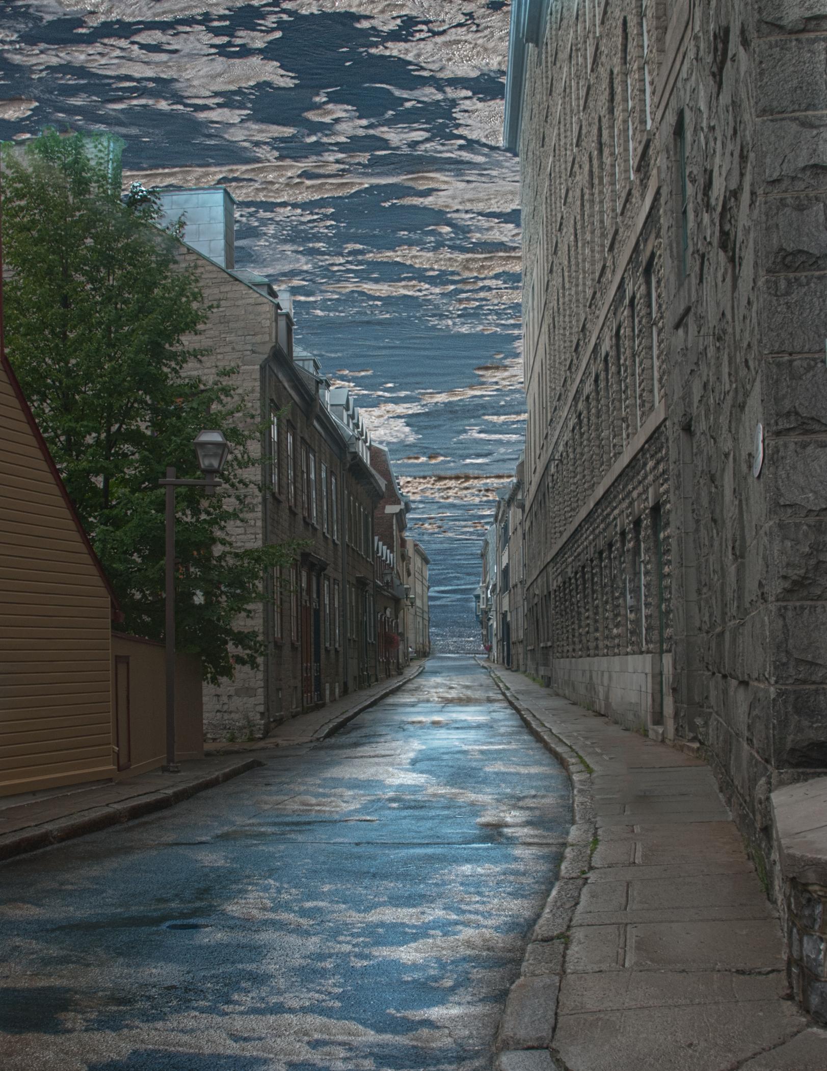 Water Between Buildings - Phyllis Bankier