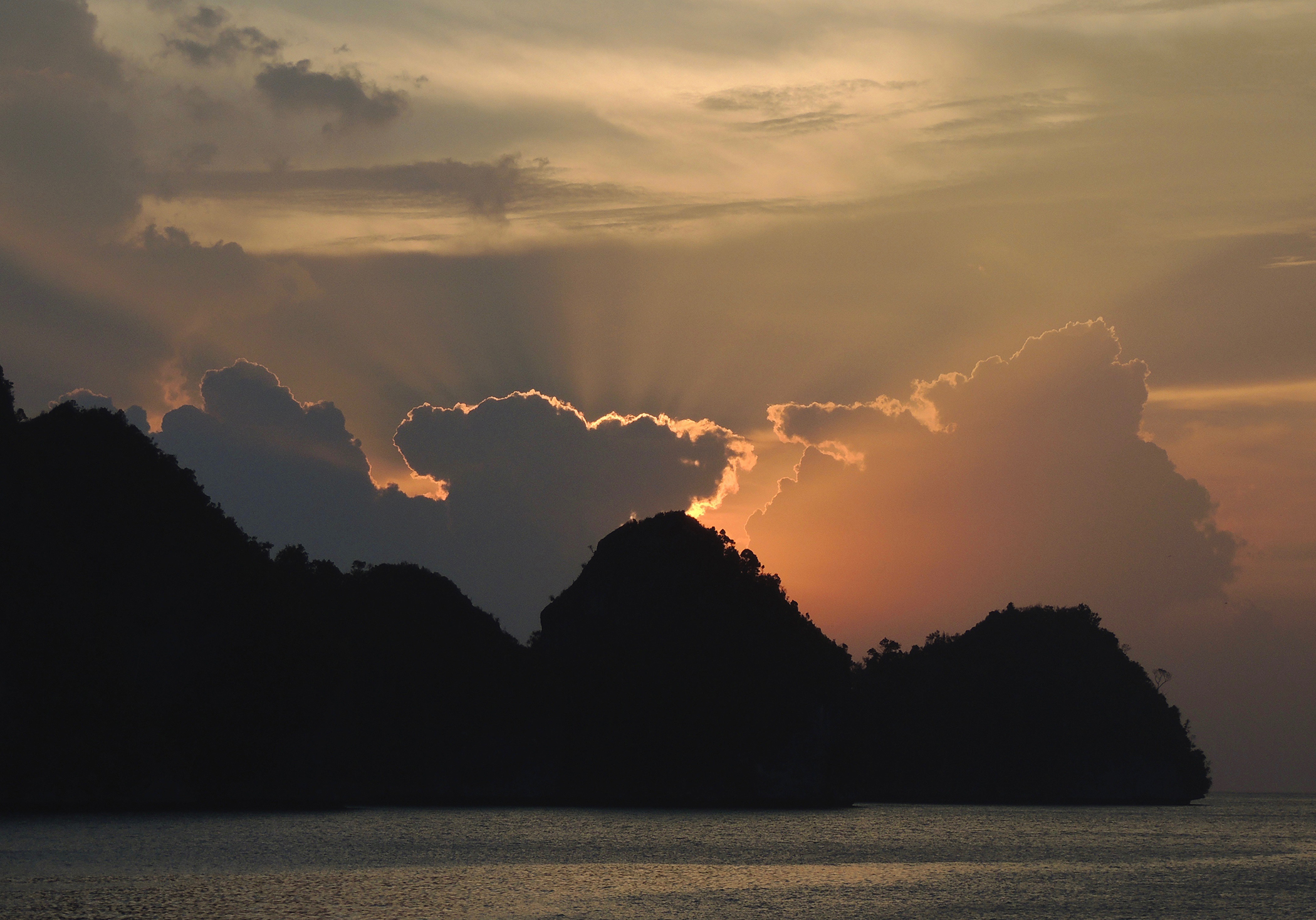 1st place - Clouds in Raja Ampat - Kathy Smith