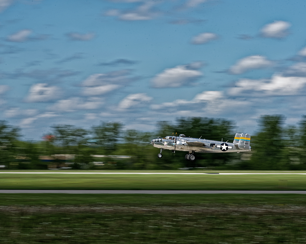 3rd place - B-25 Taking Off - Peeter Chow