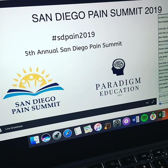 Day 2 of the #sandiegopainsummit ... learning so much and loving the conversation around it all!