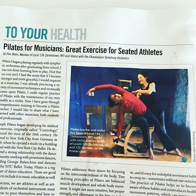 It's the truth! Was so happy to see this in the #internationalmusician magazine that @oboesoto receives every month! #musicismedicine #movementismedicine