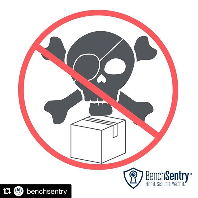 """So glad to support @benchsentry when they start their @indiegogo launch June 4th. I've had one too many friends tell me how they've had packages stolen or chased a """"porch pirate"""" down....no more! #porchpiratesbeware #benchsentry #packageprotectors"""
