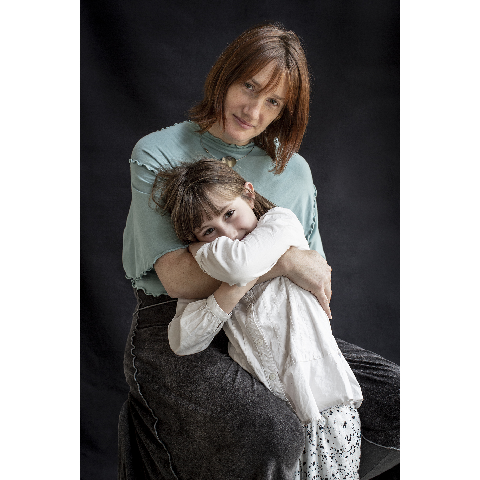 Kathleen Capetta (with daughter Ella), Maine Portrait by Lori Pedrick