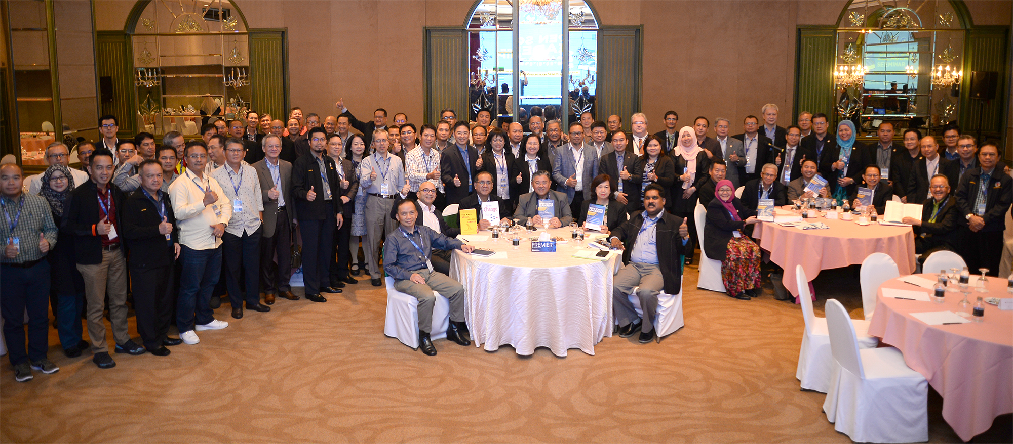 A group photo of senior civil servants attending the two-day leadership seminar.