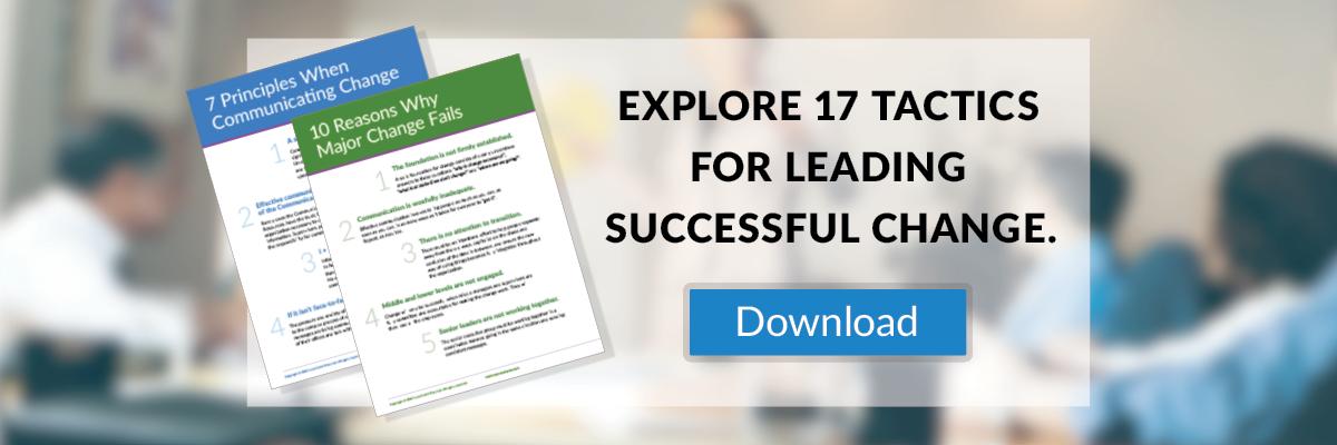 leading organizational change