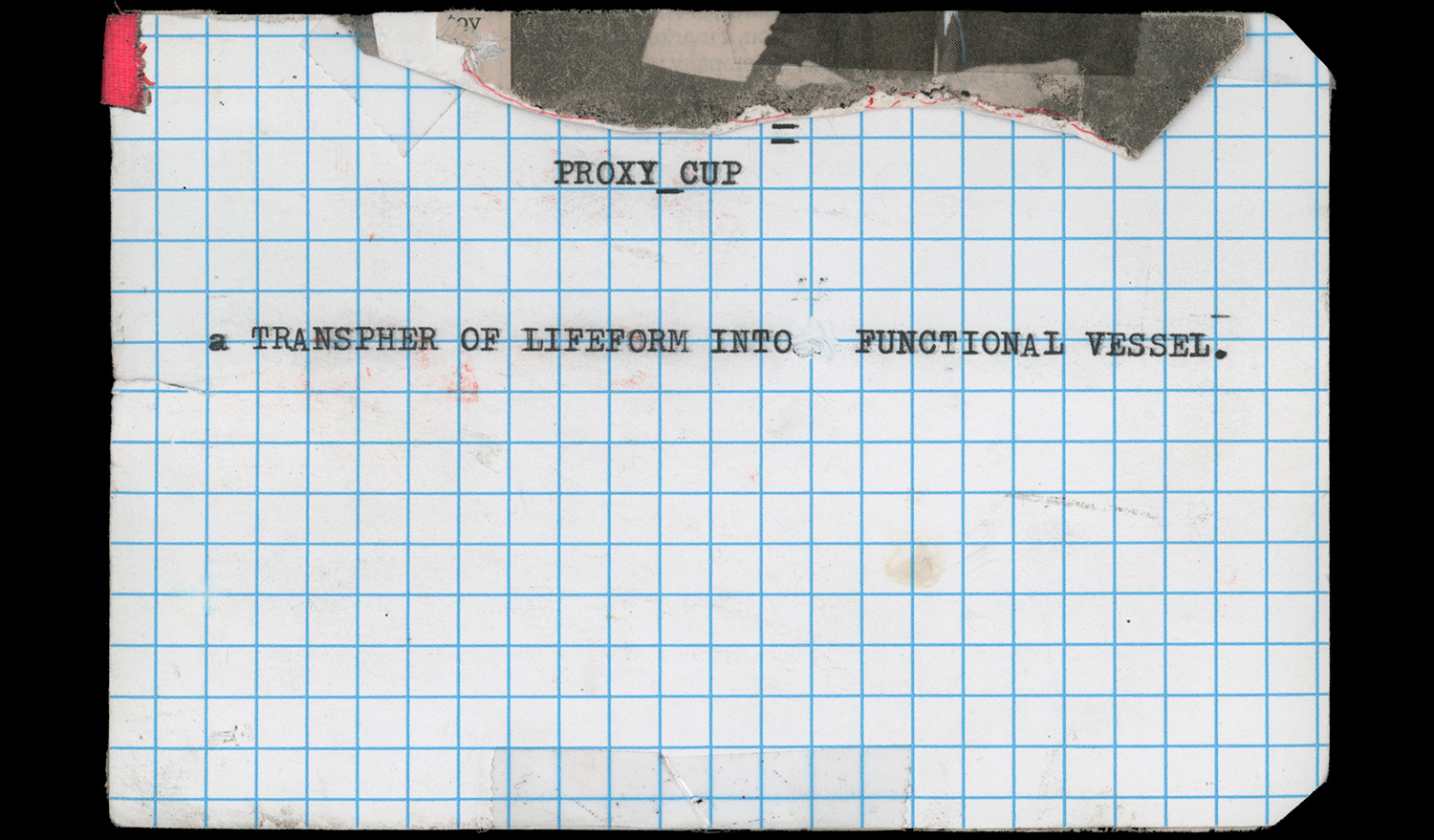 PROXY_Cup Notecard, Back