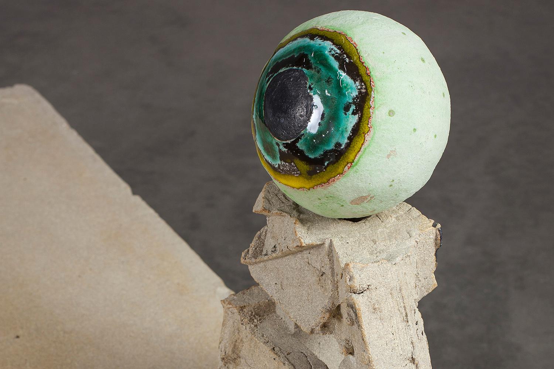 "STATION_Thistle . Detail. Stoneware, bone china, tin. 24"" x 35"" x 55"". 2016."