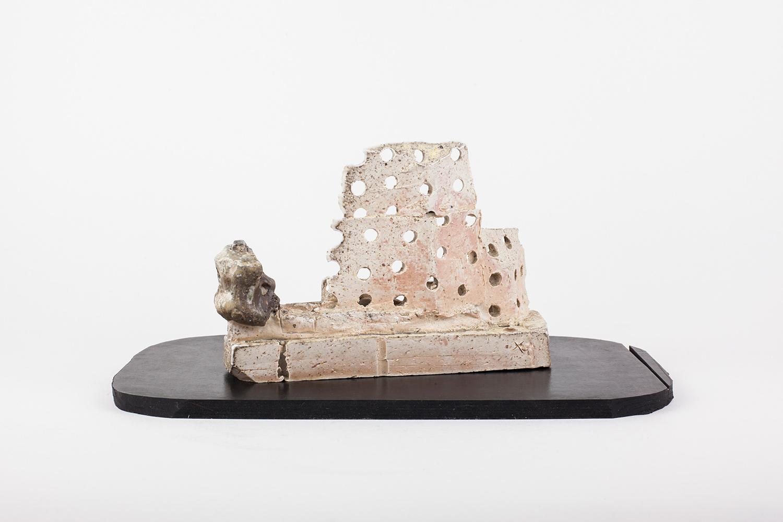 "EVERNEWS_VIEWER . Porcelain, rubber. 5"" x 10"" x 5"". 2015."