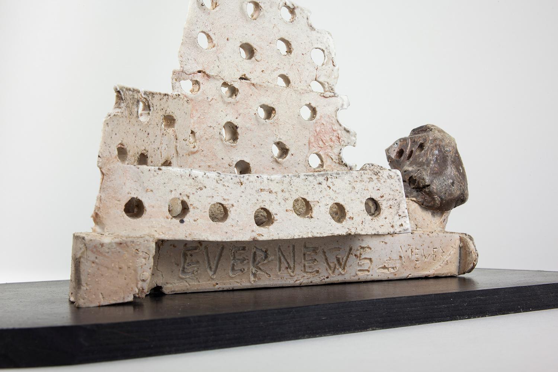 "EVERNEWS_VIEWER . Detail. Porcelain, rubber. 5"" x 10"" x 5"". 2015."