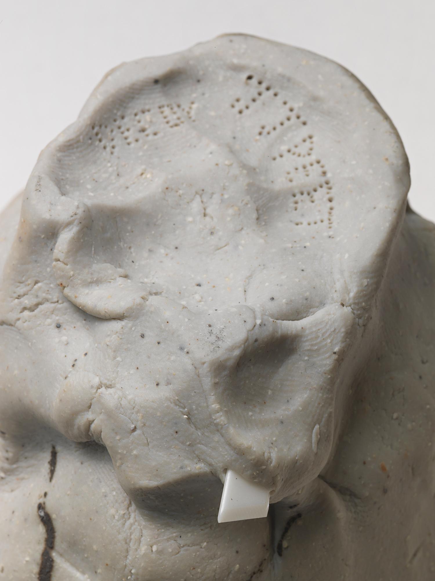 "DECOY_Cup_6 . Detail. Porcelain, cardboard, granite. 8.5"" x 9"" x 8.5"". 2014."