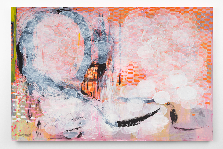 "Toxic Appearance . Acrylic on canvas. 60"" x 93"". 2015."