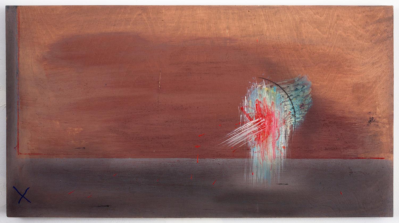 """APPEARANCE . Acrylic on panel. 13"""" x 23.25"""". 2010."""