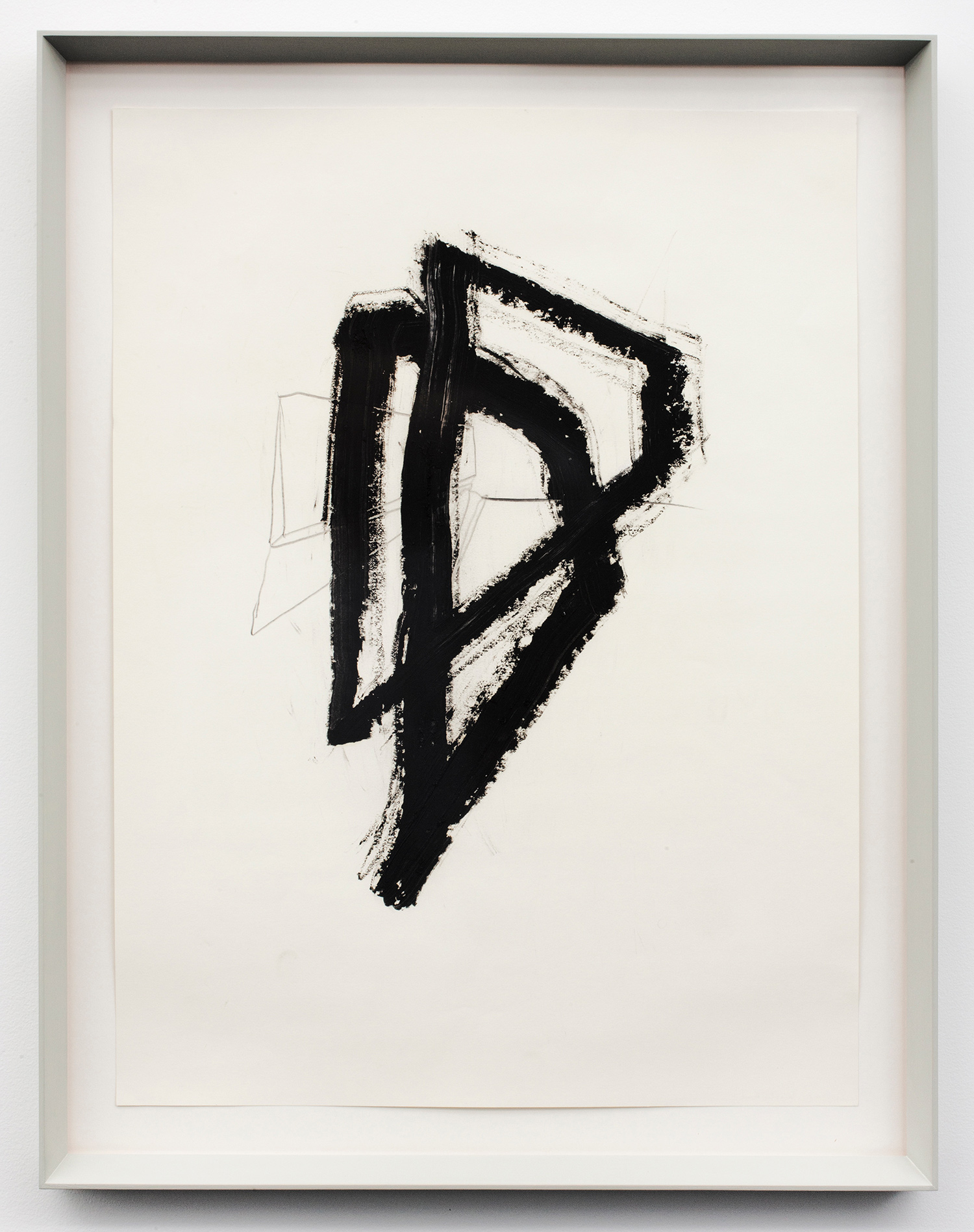 """Infinity BLockER_1 . Graphite and oil stick on paper. 27.5"""" x 21.25"""". 2012."""