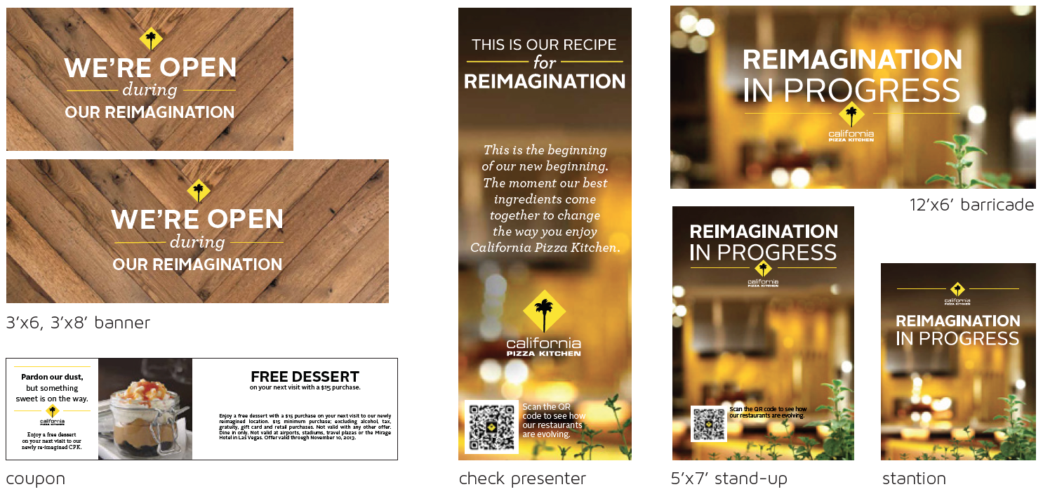 Reimagination Kit  - collateral for all restaurants under construction