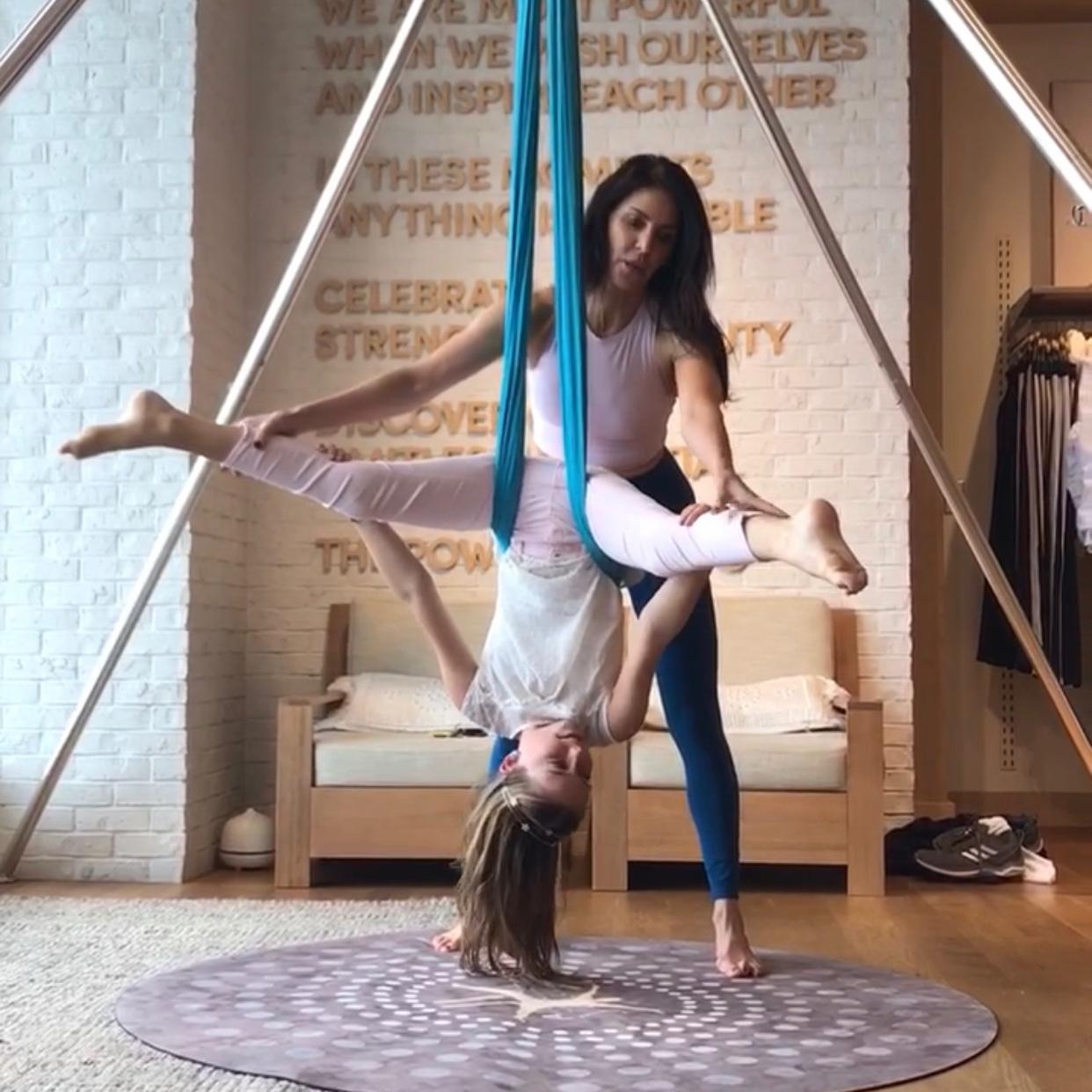 aerial yoga, aerial silks, kids yoga, parent and kids yoga, marin county, mill valley, corte madera, larkspur, yoga workshop, katie killebrew