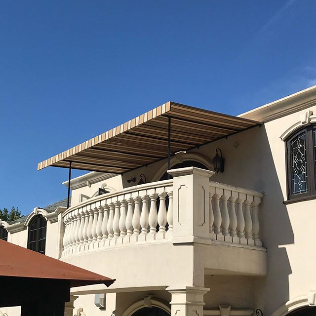 Installed in Beverly Hills. Canopy's are a great way to create an outdoor living space and protect you from the exposed elements. #grandcentralmarket #losangeles #design #concepts #innovative #grind #foodie #fabrication #engineer #instastyle #style #realestate #property #architecture #architects #build #luxury #workhard #instastyle #instadaily #awnings #shadestructures #shadingsystem #exteriordesign #designers
