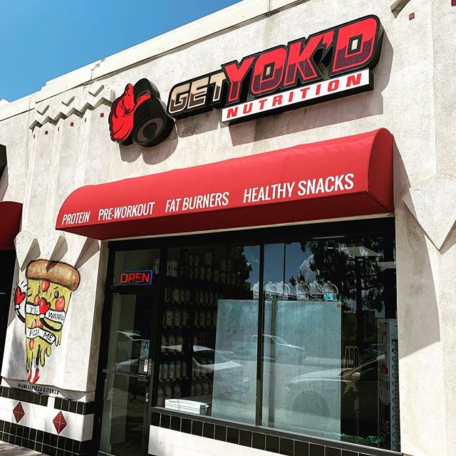 New fabric ✅ Installed ✅ Graphics Printed ✅ Happy Customer ✅. @getyokdnutritionburbank