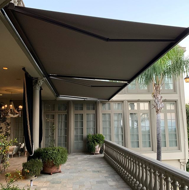 Clean and Effective! Our state of the art cassette style retractable awnings are a great addition to your property. #architecture #realestate #design #interiordesign #contractor #awnings #shades #investing #grinding