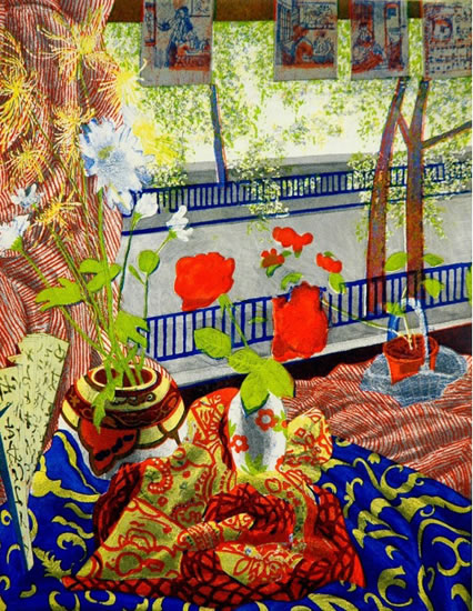 Oriental Still Life with postcards