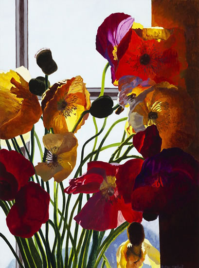 Poppies, Window study 2