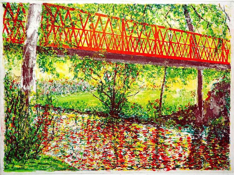 Bridge at Parc St Vinncennes, Paris
