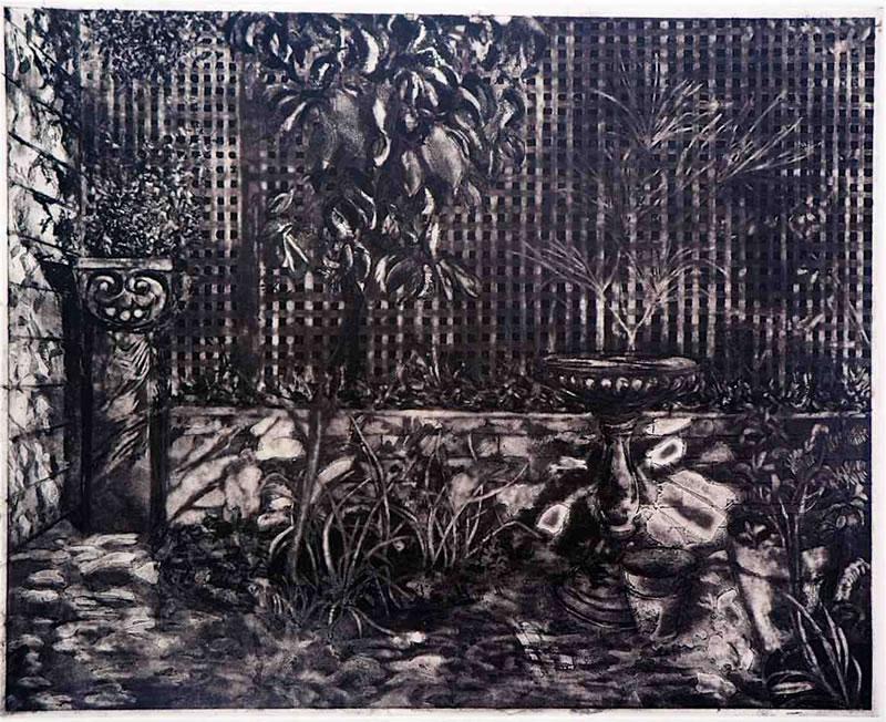 Shadow facade, enclosed garden