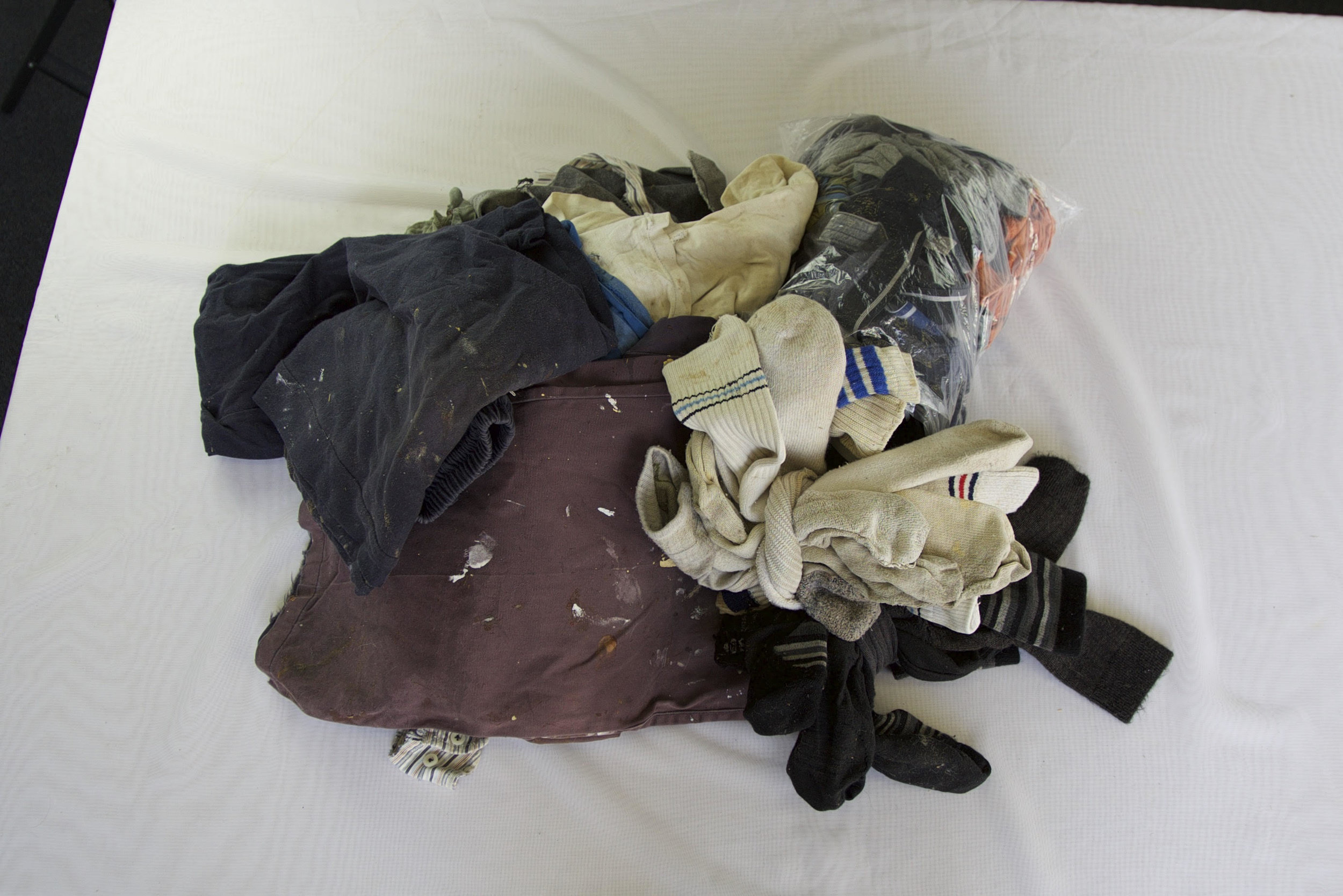 Five years worth of waste clothing: not acceptable at reuse shops or for rags..