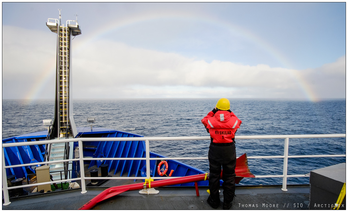 Fair weather in the Arctic. (photo: Thomas Moore)
