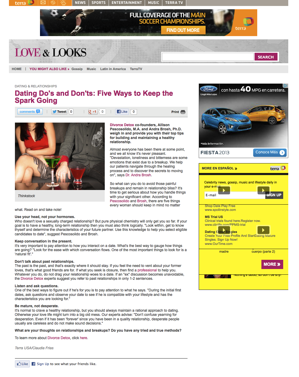 DATING ARTICLE