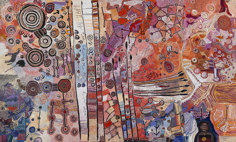 APY LANDS MEn's collaborative painting and kulata tjuta project